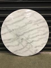 Sale 8402B - Lot 40 - White Marble Table Top - 60cm diameter, full bullnose edge