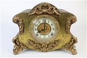 Sale 8429 - Lot 1 - Ansonia Gilt Metal Mantle Clock