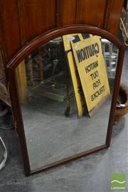 Sale 8489 - Lot 1094 - Timber Framed Dresser Mirror (damage to fittings)