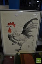 Sale 8468 - Lot 2028 - Artist Unknown (Japanese School) - Rooster 45 x 35cm