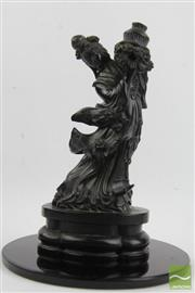 Sale 8490 - Lot 100 - Composite Black Chinese Figure of a Woman with Stand
