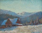 Sale 8652A - Lot 5064 - Artist Unknown (C19-20th) - Cottage Below The Alps, c1930 40 x 50cm