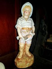 Sale 8673 - Lot 4 - Porcelain Figure Of A Boy With Fish