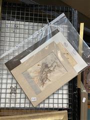 Sale 8865 - Lot 2097 - Jan van der Schoor (three works) - Soldiers on Horseback; Carring Logs, Nepal 21 x 18.5cm; 20.5 x 13.5cm; 21 x 15cm