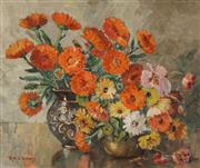 Sale 8929 - Lot 504 - Ruth Constance Williams (1897 - 1982) - Winter Flowers 37 x 44.5 cm