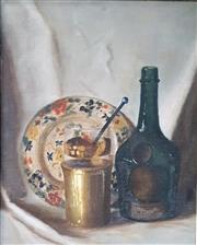 Sale 9058 - Lot 2005 - Artist Unknown Still Life, oil on canvas board, frame: 48 x 40 cm, inscribed verso