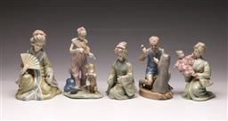 Sale 9107 - Lot 57 - A Collection of 5 Various Porcelain Figures (Tallest H 21cm)