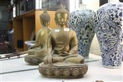 Sale 8339 - Lot 25 - Brass Buddha Figure