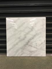 Sale 8402B - Lot 41 - White Marble Table Top - 70 x 70cm, full bullnose edge