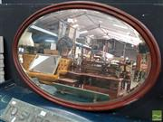 Sale 8465 - Lot 1007 - Oval Timber Framed Mirror