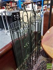 Sale 8480 - Lot 1082 - Pair of Metal CD Stands & Another (3)