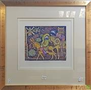 Sale 8595 - Lot 2029 - Anne Smith - Don Quixote I (The Windmills) 20 x 25cm (51.5 x 54cm)