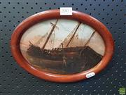 Sale 8619 - Lot 2003 - Unknown Artist - Tall Ship 15.5 x 22.5cm