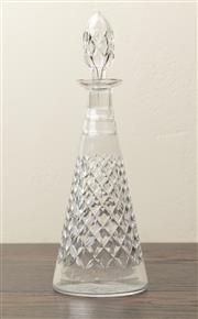 Sale 8871H - Lot 119 - A Webbs Edinburgh Scotland hand cut lead crystal decanter, Height  34cm