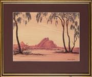 Sale 8949 - Lot 2059 - Leslie Fisher (1911 - 1974) - Red Rocks, Central Australia 28 x 38 cm (frame: 42.5 x 51.5 x 3 cm)