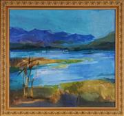 Sale 9028 - Lot 2033 - G. ? (Rake) - Moogerah, 1974 67.5 x 75.5 cm (frame: 80 x 87 x 4 cm)