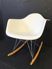 Sale 9051 - Lot 1086 - Eames Style Rocking Chair (h:69 x w:63 x d:60cm)