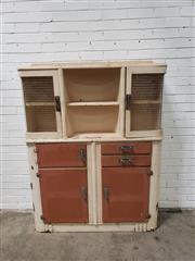 Sale 9059 - Lot 1013 - Art Deco Kitchen Cabinet (h:165 x w:127 x d:40cm)