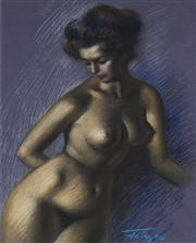 Sale 9084 - Lot 582 - Zoltan Fenyes (1924 - 1997) - Female Nude 38 x 29 cm (frame: 60 x 50 x 3 cm)