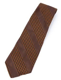 Sale 9092F - Lot 15 - A CONNOISSEUR BY RODNEY VINTAGE TIE. in tobacco brown.