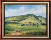 Sale 8313A - Lot 18 - Brian Agnew - Rural landscape 44 x 60cm