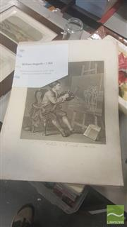 Sale 8446 - Lot 2089 - William Hogarth (1697 - 1764) After. (2 works) - Self-Portrait, 1764; Self-Portrait, 1745 40.5 x 35cm; 39.5 x 30cm