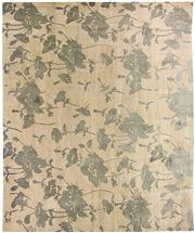 Sale 8536A - Lot 15 - A Grey Floral Florence Broadhurst Tibetan Wool & Chinese Silk	Carpet Nepal 400cm x 300cm RRP $12,100.00