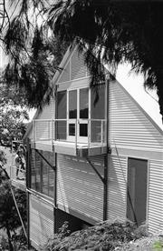 Sale 8721A - Lot 31 - David Moore (1927 - 2003) - Tree House designed by Peter Stronach, 1984 30 x 20cm