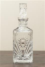 Sale 8871H - Lot 120 - An excellent quality hand cut lead crystal square decanter, Height  26cm