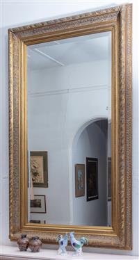 Sale 8934H - Lot 21 - A bevelled edge gilt frame mirror 136cm x 184cm