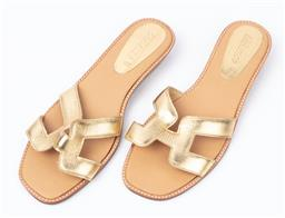 Sale 9092F - Lot 92 - A PAIR OF PRO LONDON SANDALS; with gold straps. Size 40