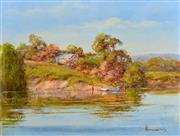 Sale 8323A - Lot 7 - John Hingerty (1930 - ) - Serene Hideaway 38 x 50.5cm
