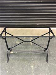 Sale 8402B - Lot 43 - Cast Iron Table Base, rectangular