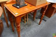 Sale 8480 - Lot 1103 - Timber Hall Table on Turned Legs