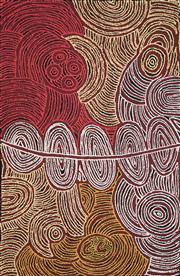 Sale 8656 - Lot 521 - Marlene Young Nungurrayi (1973 - ) - Minyma Tjukurrpa 98 x 64cm