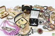 Sale 8635 - Lot 61 - A Collection of Costume Jewellery incl Silver,  Watches, and Vintage