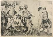 Sale 8657E - Lot 5031 - Norman Lindsay (1879 - 1967) - Bachus, c1914 25.5 x 37cm (frame: 64 x 74cm)