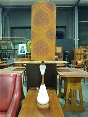 Sale 8661 - Lot 1038 - Vintage Teak and Ceramic Table Lamp