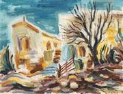 Sale 8683 - Lot 584 - David Gilboa (1910 - 1976) - Israeli Scene 30 x 39.5cm