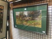 Sale 8751 - Lot 2046 - Alice E Norton - A Country Cottage 18.5 x 37cm
