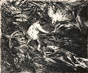 Sale 8838A - Lot 5198 - Arthur Boyd (1920 - 1999) - Untitled (Figures and Wildlife) 25 x 30cm