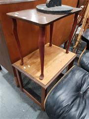 Sale 8863 - Lot 1043 - Timber Side Tables x 2