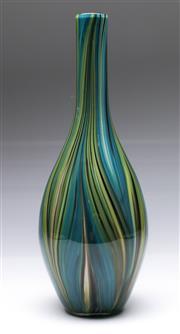 Sale 9090 - Lot 93 - Murano style Chalcedony cased glass vase (H38cm)
