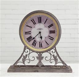 Sale 9121 - Lot 1028 - Metal mantle clock (h:54cm)