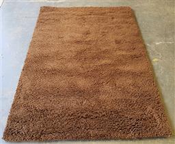 Sale 9137 - Lot 1066A - Brown tone flokati style woollen rug