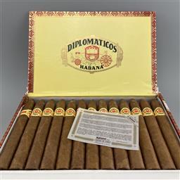 Sale 9165 - Lot 639 - Diplomaticos No.2 Cuban Cigars - box of 25 cigars, dated September 2020