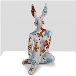 Sale 9221JM - Lot 5007 - GILLIE AND MARC Splash pop mini Rabbitgirl on white with flowers resin sculpture 26.5 x 15 x 14 cm inscribed