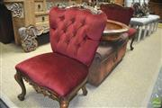 Sale 8310 - Lot 1610 - Pair of French Style Bedroom Chairs with Button Back