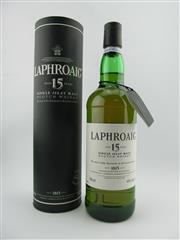 Sale 8367 - Lot 784 - 1x Laphroaig 15YO Single Islay Malt Scotch Whisky - old version, in canister