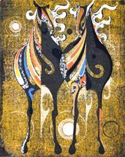 Sale 8394 - Lot 586 - Tadashi Nakayama (1927 - 2014) - Untitled, 1969 12.5 x 10cm